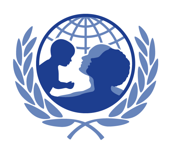 The UNICEF logo re-imagined with a child, mother and a father. (Michael Kaufman / Julian Kirk-Elleker)